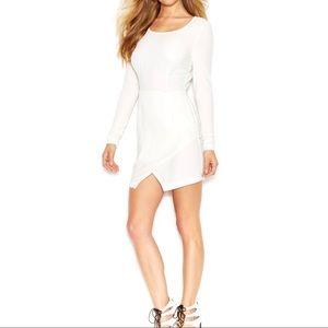 Beautiful Guess Ivory Long Sleeve Wrap Skirt Dress